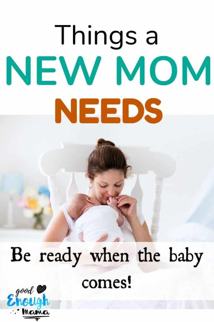 New mom rocking newborn baby