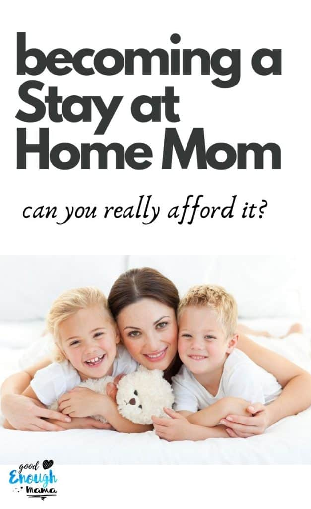 stay at home mom with two children