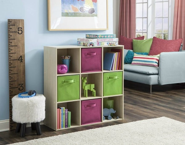 living room toy organization